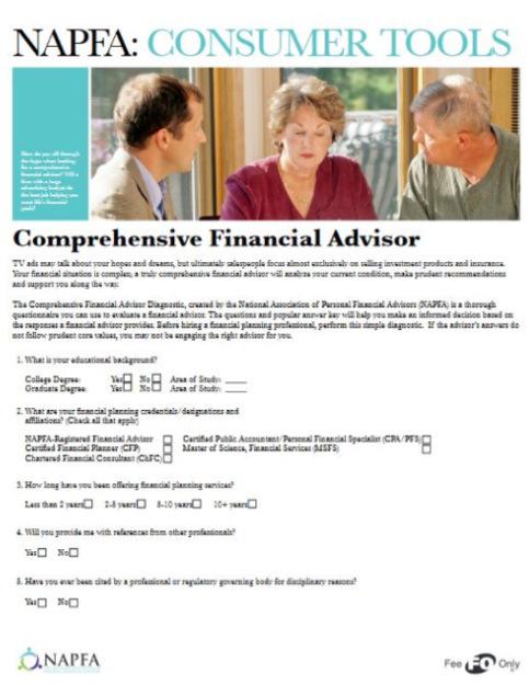 NAPFA Consumer Tools PDF
